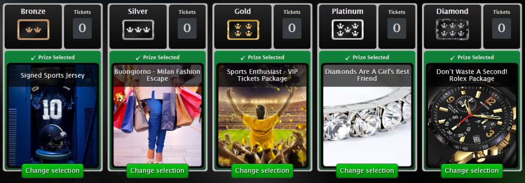 casino rewards ticket